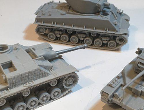 Blitzkrieg Miniatures Resin Sherman M4A1 & Stug III Ausf G